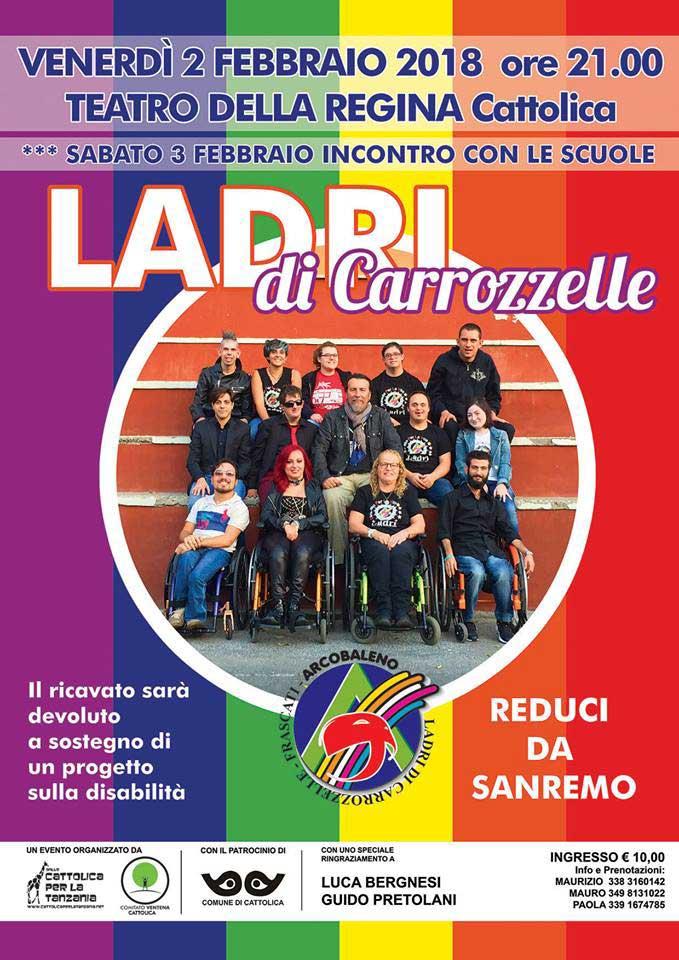 manifesto concerto Ladri di Carrozzelle
